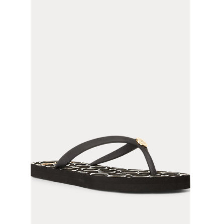 Shawna Chain Link Sandals, black