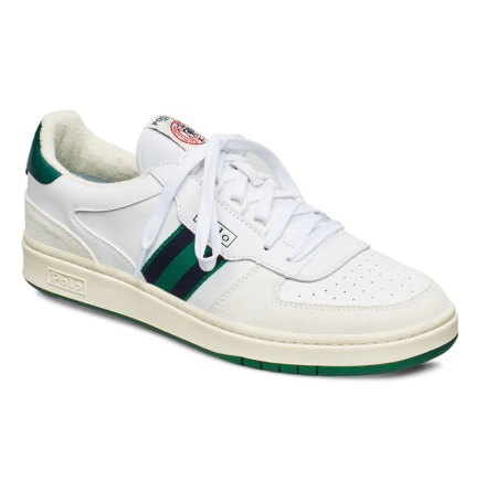 Polo Court Sneakers, white/kelly green/navy