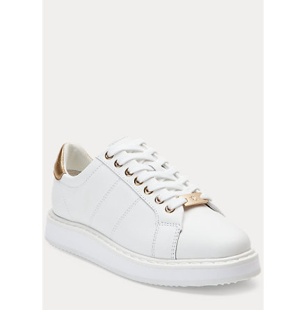 Angeline Sneakers, white/gold