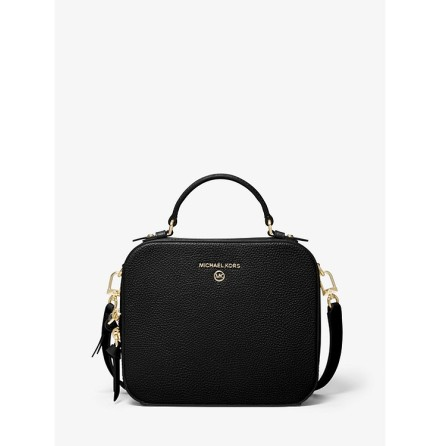Jet Set Charm; Medium Crossbody, black