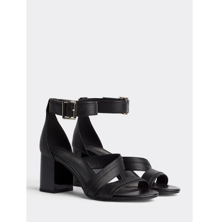 Strappy Mid Heel Sandals, black
