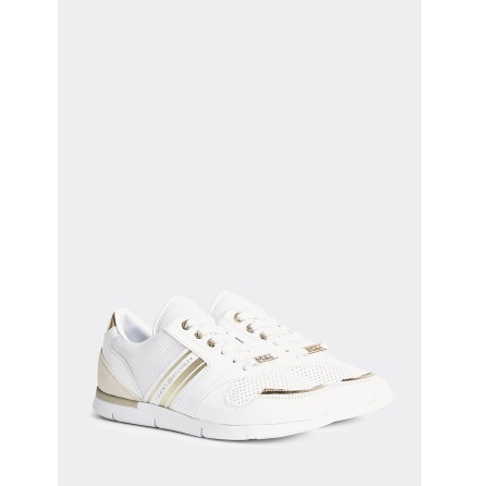 Metallic Lightweight Trainers, white/light gold