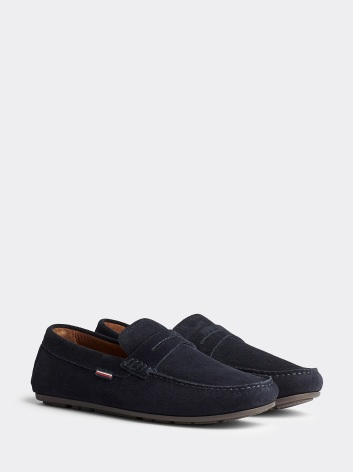 Suede Penny Loafers, desert sky