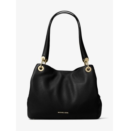 Raven; Large Shoulder Tote, black
