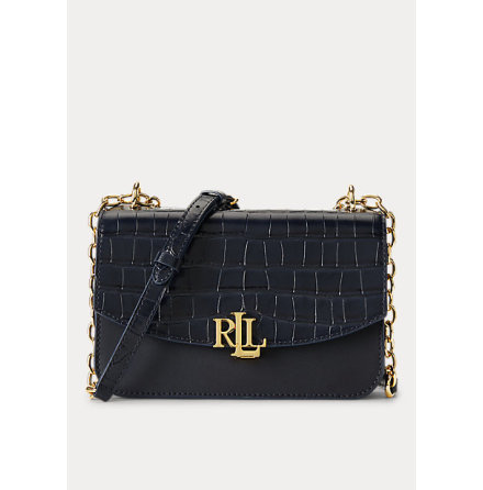 Madison: Medium Crossbody Croco, lauren navy