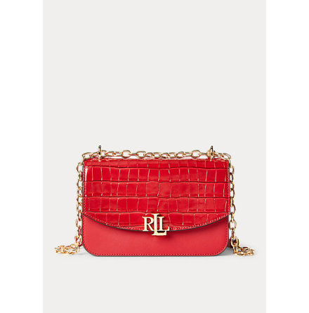 Madison: Medium Crossbody Croco, red