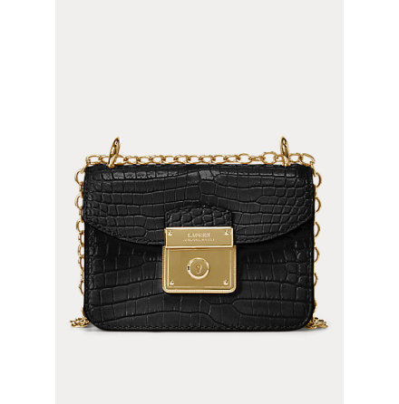 Beckett: Mini Crossbody Croco, black