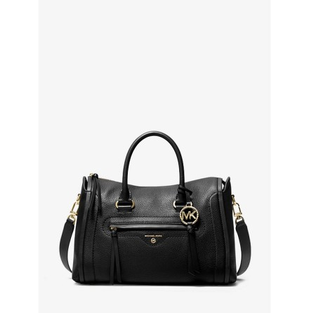 Carine; Medium Satchel, black