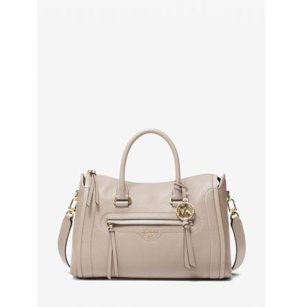 Carine; Medium Satchel, light sand