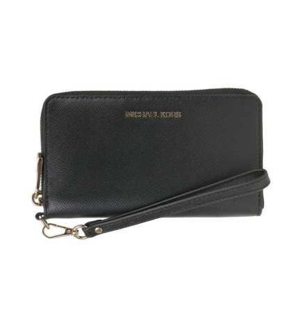 Jet Set; Logo Continental Wristlet, black