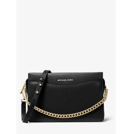 Jet Set: Large Chain Crossbody, black