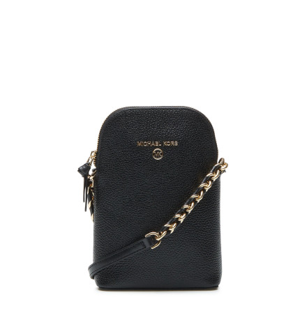 Jet Set Charm: Phone Crossbody, black