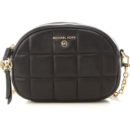 Jet Set Charm: Small Oval Crossbody, black