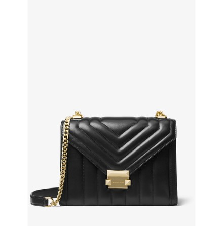 Whitney: Small Quilted Crossbody, black